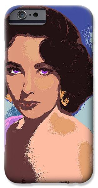 Taylor iPhone Cases - Elizabeth Taylor iPhone Case by John Keaton