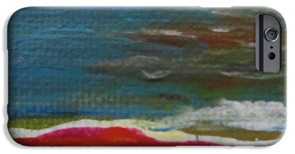 Young Paintings iPhone Cases - Ella 4A iPhone Case by Maria Milazzo