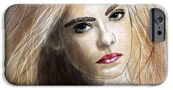 Beautiful Faces iPhone Cases - Elle  iPhone Case by Gary Bodnar