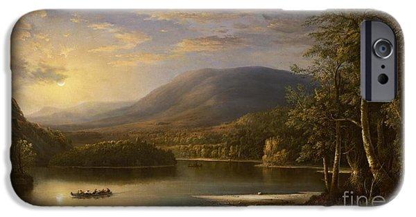 1871 iPhone Cases - Ellens Isle - Loch Katrine iPhone Case by Robert Scott Duncanson
