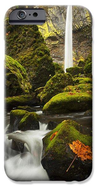 Creek iPhone Cases - Elowah Autumn iPhone Case by Mike  Dawson