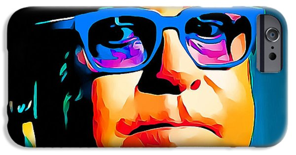 Elton John iPhone Cases - Elton John Blue Eyes Portrait iPhone Case by Yury Malkov