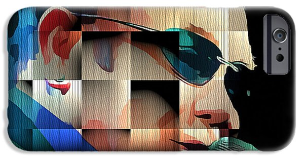 Elton John iPhone Cases - Elton John in Cubes 1 iPhone Case by Yury Malkov