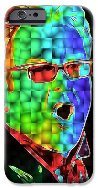 Elton John iPhone Cases - Elton John in Cubes 2 iPhone Case by Yury Malkov