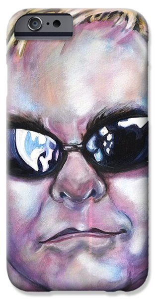 Elton John Paintings iPhone Cases - Elton John iPhone Case by Misty Smith