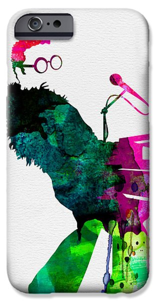 Piano iPhone Cases - Elton Watercolor iPhone Case by Naxart Studio