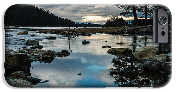 Creek iPhone Cases - Elusive Eagle Creek Reflections iPhone Case by Mike  Herron