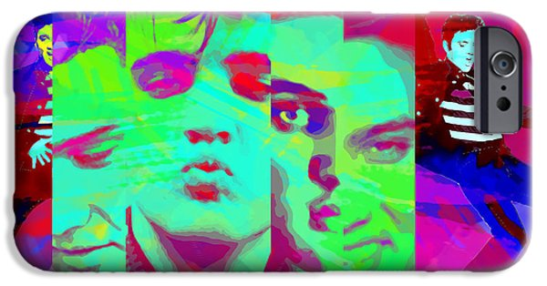 1950s Portraits Digital iPhone Cases - Elvis Digital Art iPhone Case by Nostalgic Art