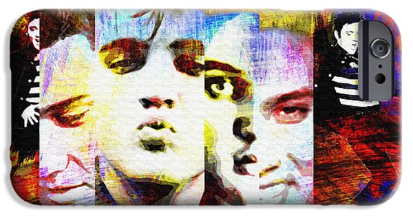 1950s Portraits iPhone Cases - Elvis Presley 2 iPhone Case by Nostalgic Art