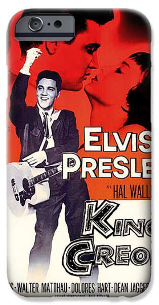 Recently Sold -  - 1950s Movies iPhone Cases - Elvis Presley in King Creole 1958 iPhone Case by Mountain Dreams