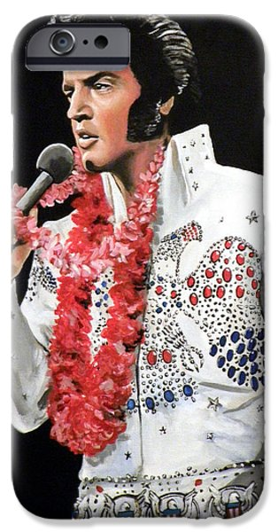 Tom iPhone Cases - Elvis iPhone Case by Tom Carlton