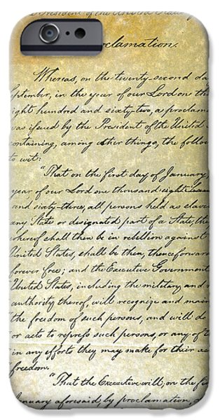 EMANCIPATION PROC., P. 1 iPhone Case by Granger