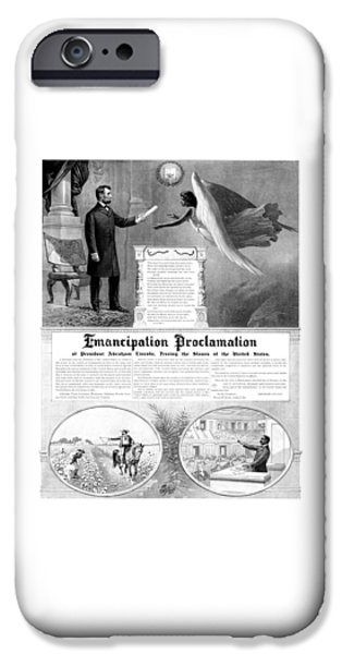 History iPhone Cases - Emancipation Proclamation iPhone Case by War Is Hell Store