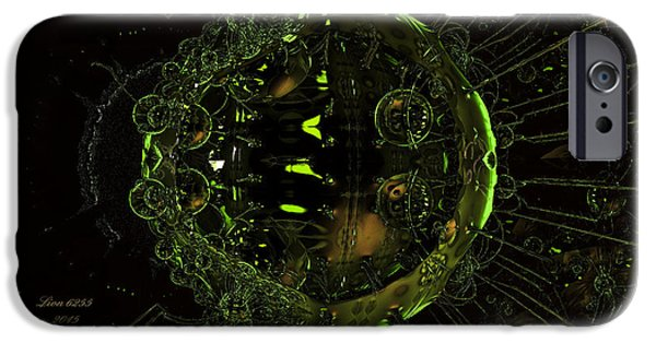 Shape iPhone Cases - Emerald Interplanetary Bubbles iPhone Case by Melissa Messick