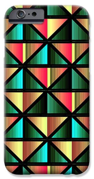 Algorithmic iPhone Cases - Emerald triangles iPhone Case by Gaspar Avila