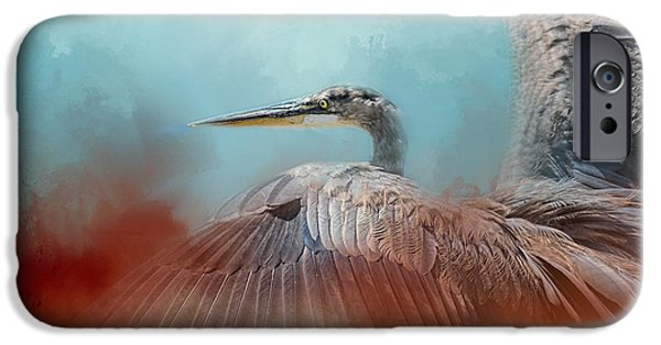 Sea Birds iPhone Cases - Emerging Heron iPhone Case by Jai Johnson