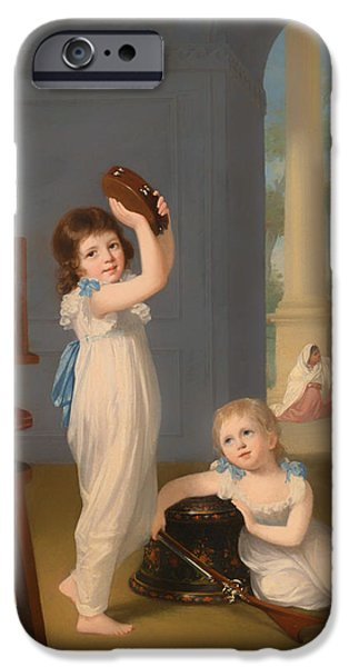 Little Girl iPhone Cases - Emily And George Mason iPhone Case by Arthur William Devis