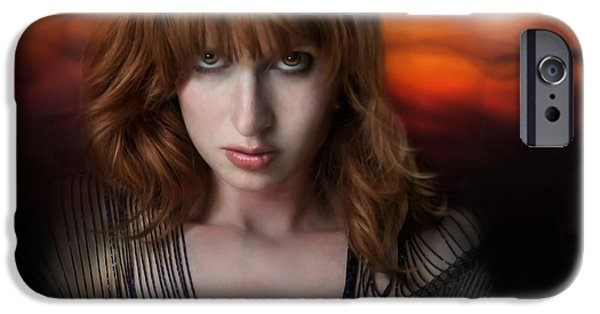 Red-haired Women iPhone Cases - Eminate iPhone Case by Dan Holm