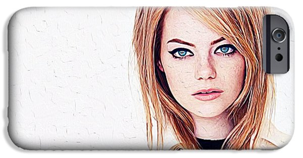 Hermione Granger iPhone Cases - Emma Stone iPhone Case by Queso Espinosa
