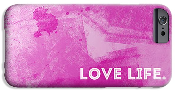 Youth Digital Art iPhone Cases - EMOTIONAL ART Love Life iPhone Case by Melanie Viola