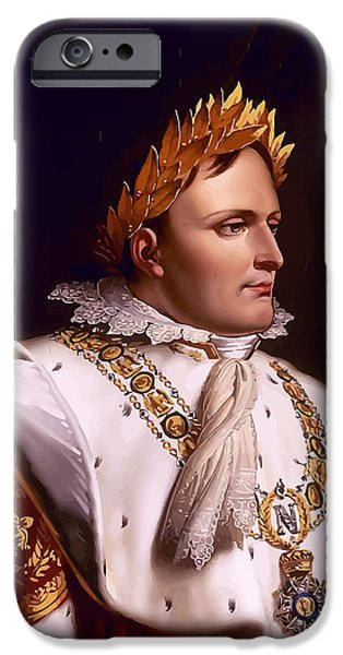 Emperor iPhone Cases - Emperor Napoleon Bonaparte  iPhone Case by War Is Hell Store