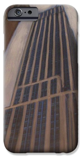 Empire State Mixed Media iPhone Cases - Empire State Building 1 iPhone Case by Anita Burgermeister