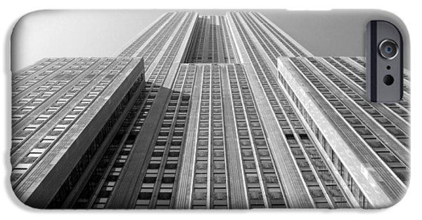 Empire State Digital iPhone Cases - Empire State Building iPhone Case by Mike McGlothlen