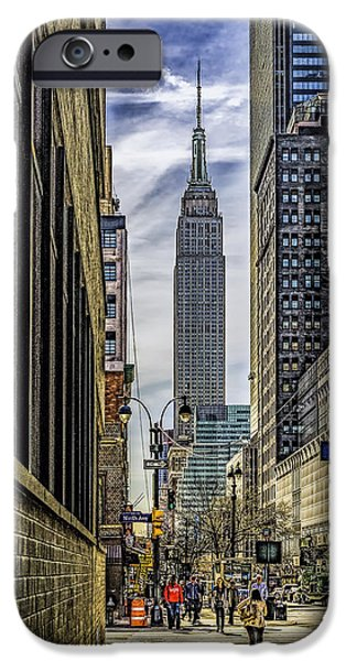 Empire State iPhone Cases - Empire State Building iPhone Case by Nick Zelinsky