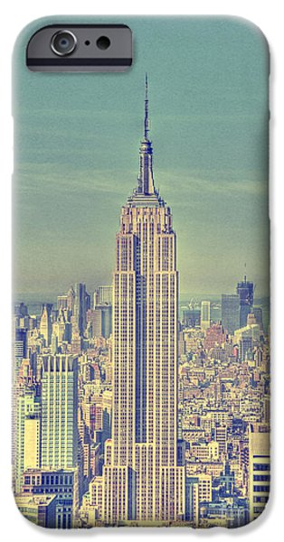 Hudson River iPhone Cases - Empire State iPhone Case by Margie Hurwich