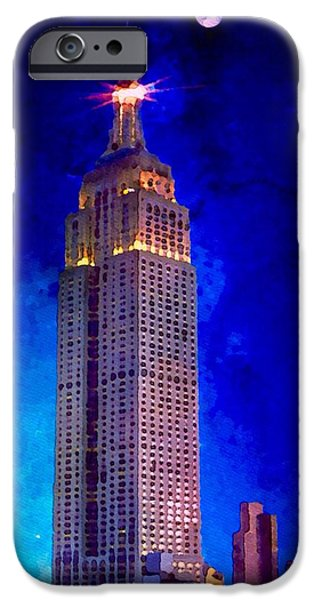 Buildings Mixed Media iPhone Cases - Empire State iPhone Case by Mark Taylor