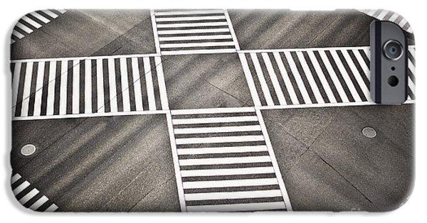 Man Made Space iPhone Cases - Empty Crosswalk Shibuya Crossing iPhone Case by Bryan Mullennix