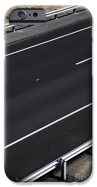 Asphalt iPhone Cases - Empty Highway iPhone Case by Ryan Jorgensen