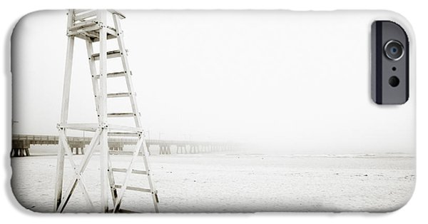 Absence iPhone Cases - Empty Life Guard Tower 1 iPhone Case by Skip Nall
