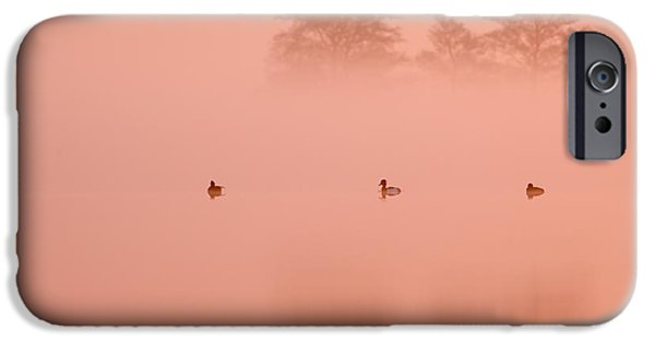Pinkish iPhone Cases - Empty Spaces IV iPhone Case by Roeselien Raimond