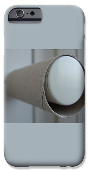 Empty toilet paper roll iPhone Case by Matthias Hauser