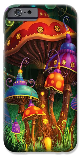 Mushrooms iPhone Cases - Enchanted Evening iPhone Case by Philip Straub