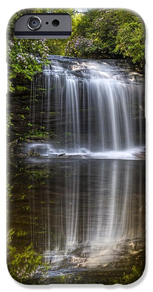 River iPhone Cases - Enchanted Falls iPhone Case by Debra and Dave Vanderlaan