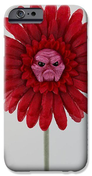 Petals Sculptures iPhone Cases - Enchanted Flower iPhone Case by Michael Palmer