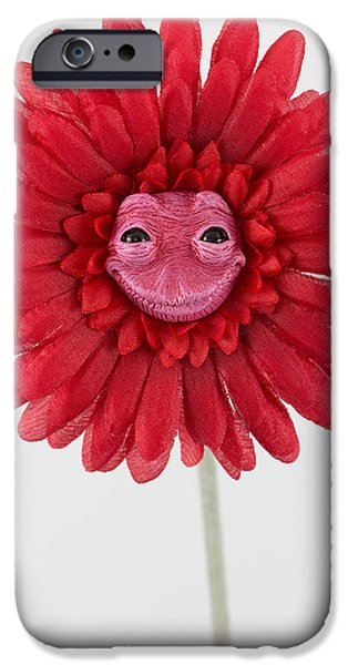 Petals Sculptures iPhone Cases - Enchanted Flower sweet iPhone Case by Michael Palmer