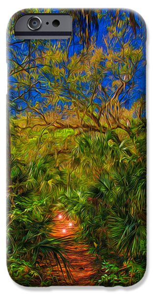 Pathway iPhone Cases - Enchanted Forest iPhone Case by John Bailey