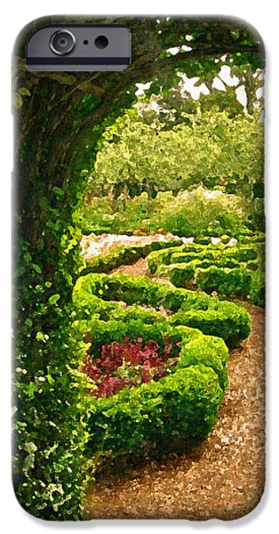 Abstract Digital Photographs iPhone Cases - Enchanted Garden iPhone Case by Jean Hall
