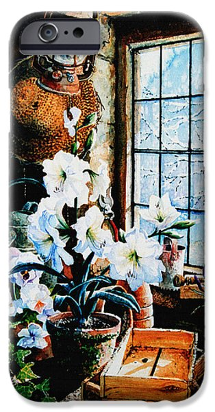 Garden Scene Paintings iPhone Cases - Encouraging Springtime iPhone Case by Hanne Lore Koehler