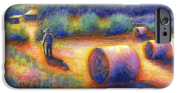 Virtual Paintings iPhone Cases - End of a Well Spent Day iPhone Case by Retta Stephenson