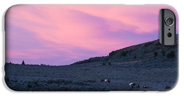 The Horse iPhone Cases - End of Day iPhone Case by Rod  Giffels