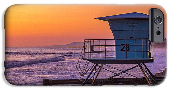Ocean Sunset iPhone Cases - End of Summer iPhone Case by Peter Tellone