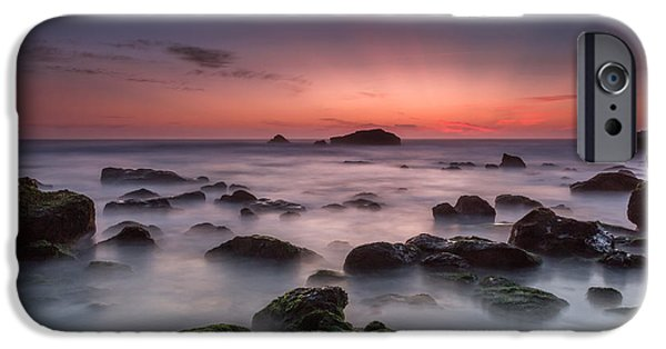 Ocean Sunset iPhone Cases - End of the day iPhone Case by Henrique Silva