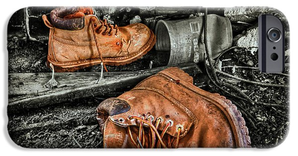 Boots iPhone Cases - End of the Road iPhone Case by Evelina Kremsdorf