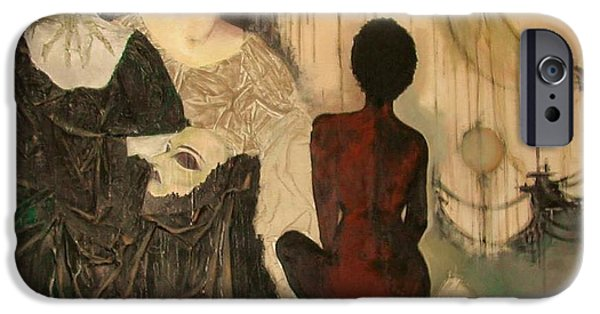 Nudes Tapestries - Textiles iPhone Cases - End of Words Worlds  iPhone Case by Maya Albina Morella
