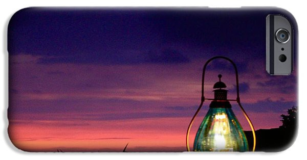 Hurricane Lamp iPhone Cases - Ending Glow  iPhone Case by Kimberly  Reeves