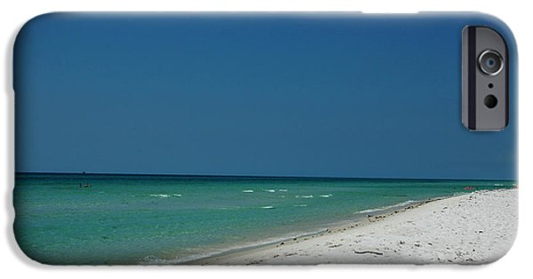Panama City Beach Photographs iPhone Cases - Endless Horizon iPhone Case by Susanne Van Hulst